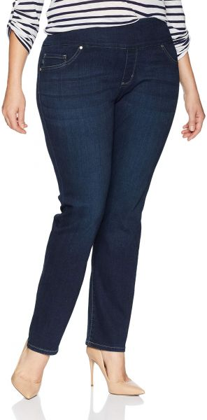 bf1130d1 LEE Women's Plus Size Sculpting Fit Slim Leg Pull on Jean, Infinity, 24W  Petite. by Lee, Pants - 37 ratings