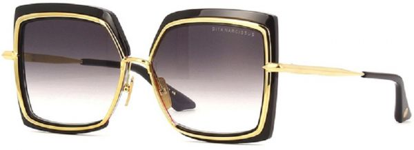 9d2e78a894d7 Dita Narcissus Black and Gold Ladies Sunglasses in Brown Gradient Lens DTS  503-58
