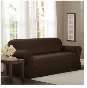 Brilliant Maytex Torie Stretch 1 Piece Loveseat Furniture Cover Slipcover Chocolate Onthecornerstone Fun Painted Chair Ideas Images Onthecornerstoneorg