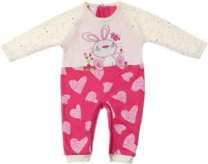 eeb587d25 Skills Long Sleeves Rabbit Snap Closure Cotton Jumpsuit for Girls - Fuchsia