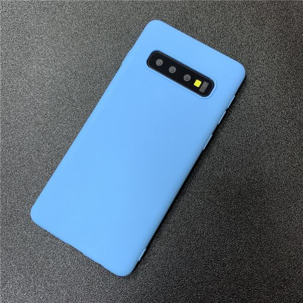 outlet store 1e18d 0bc5c plain candy color silicone phone case on for Samsung Galaxy s10 plus