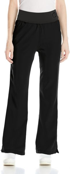 b6322f0a813 WonderWink Women's Four Stretch Knit Waist Scrub Pant, Black, XX-Large/ Petite. by WonderWink, Uniform - Be the first to rate this product