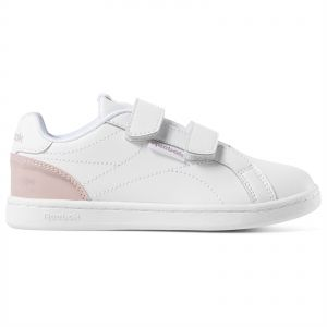 Reebok Royal Complete Clean 2V Sneakers for Kids (White & Pink 29 EU)