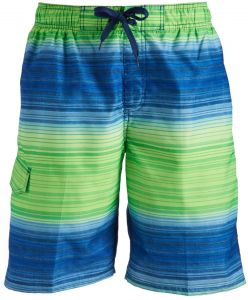 66191fb9f6 Kanu Surf Men's Haywire Stripe Quick Dry Beach Board Shorts Swim Trunk,  Navy/Green, X-Large