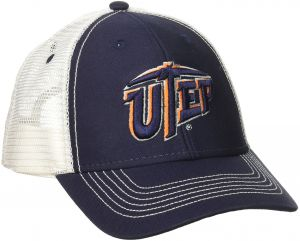 hot sales 093ea 605e2 Ouray Sportswear NCAA Texas El Paso Miners Youth Sideline Mesh Cap,  Adjustable Size, Navy White