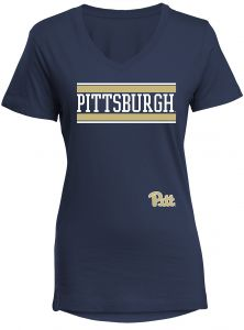 Navy Medium CBUK NCAA Marquette Golden Eagles Womens Short Sleeve Presley V-Neck Tee