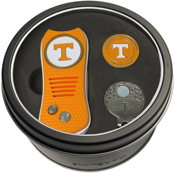 best service f3e8f 48f20 NCAA Tennessee Volunteers Tin Gift Set with Switchfix Divot Tool, Cap Clip,  and Ball Marker   KSA   Souq
