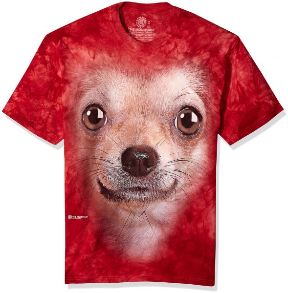 f9b5543e The Mountain Chihuahua Face Adult T-Shirt, Red, Large | KSA | Souq