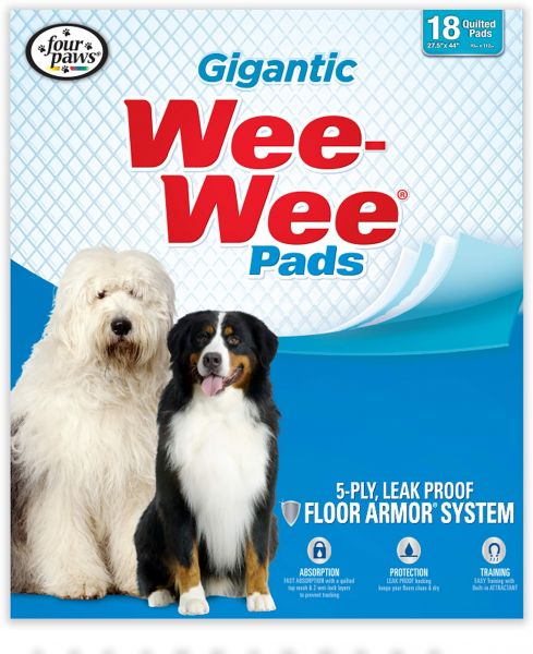 Four Paws Wee-Wee Gigantic Puppy Pads, 18 Ct