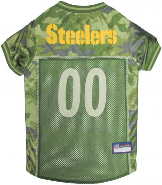 77a0de3d25b Pets First NFL PITTSBURGH STEELERS CAMOUFLAGE DOG JERSEY