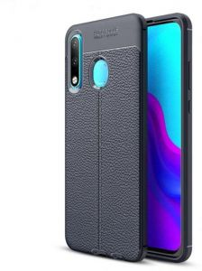 Huawei P30 Lite Back Cover Litchi Rubber Auto Focus For Huawei P30 Lite Blue Buy Online Mobile Phone Accessories At Best Prices In Egypt Souq Com