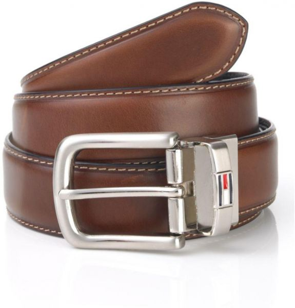 146cd822 Tommy Hilfiger Dark Brown Leather Belt For Men
