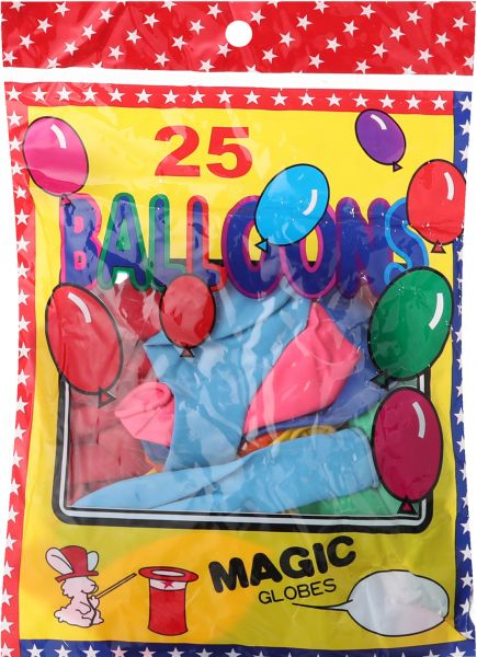Party Balloons, Pack of 25- Multi Color
