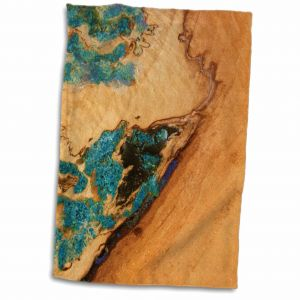 3D Rose Textured in Turquoise TWL/_17196/_1 Towel 15 x 22