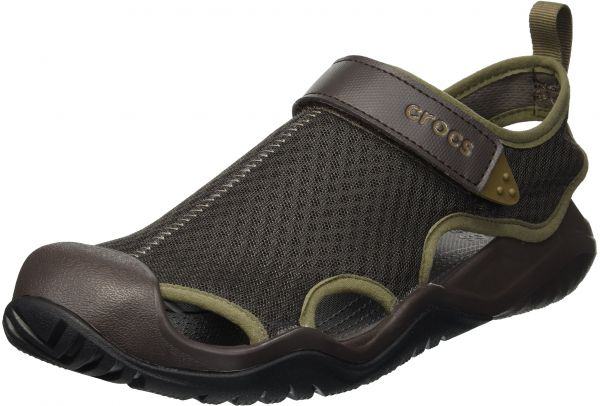 Men's Mesh Swiftwater Crocs Sport Deck SandalEspresso10 ZkOPiuX