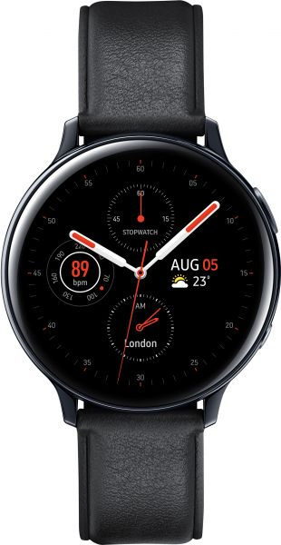 Samsung Galaxy Watch Active 2, 44 mm Stainless Steel, Black - SM-R820NSKAKSA