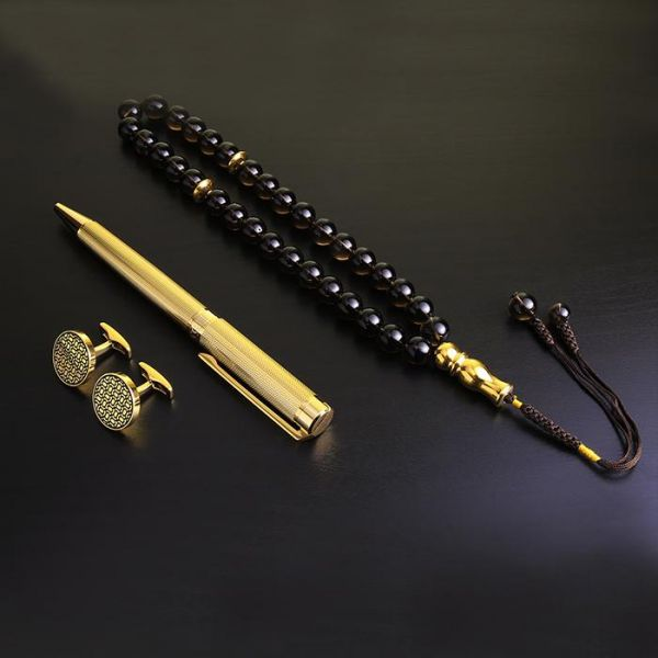 PEN & CUFFLINK AND MISBAH FOR MEN BLACK GOLD