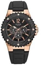 guess men overdrive rose gold case black dial and strap watch guess men overdrive rose gold case black dial and strap watch model no w15513g1 price review and buy in city ahmadi souq com